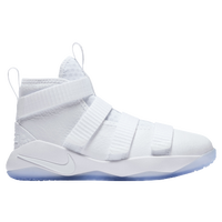 Nike LeBron Soldier 11 - Boys' Preschool -  Lebron James - White / Light Blue