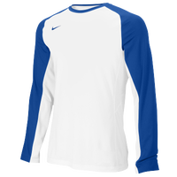 Nike Team Elite L/S Shooting Shirt - Men's - White / Blue