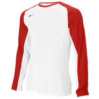 Nike Team Elite L/S Shooting Shirt - Men's - White / Red