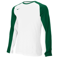 Nike Team Elite L/S Shooting Shirt - Men's - White / Dark Green