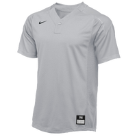 Nike Team Vapor 1 Button Laser Jersey - Men's - Grey / Grey