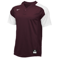 Nike Team Vapor 1 Button Laser Jersey - Men's - Maroon / White