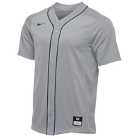 Nike Team Vapor Full Button Dinger Jersey - Men's - Grey / Navy