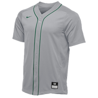 Nike Team Vapor Full Button Dinger Jersey - Men's - Grey / Dark Green