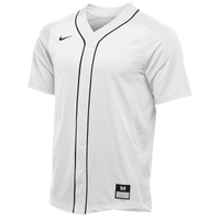 Nike Team Vapor Full Button Dinger Jersey - Men's - White / Black