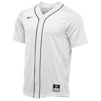 Nike Team Vapor Full Button Dinger Jersey - Men's - White / Navy
