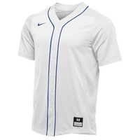 Nike Team Vapor Full Button Dinger Jersey - Men's - White / Blue