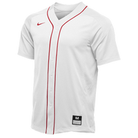 Nike Team Vapor Full Button Dinger Jersey - Men's - White / Red