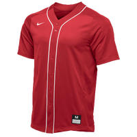 Nike Team Vapor Full Button Dinger Jersey - Men's - Red / White