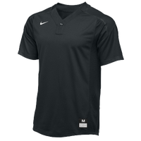 Nike Team Vapor 1 Button Laser Jersey - Boys' Grade School - All Black / Black