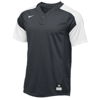 Nike Team Vapor 1 Button Laser Jersey - Boys' Grade School - Grey / White