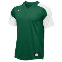 Nike Team Vapor 1 Button Laser Jersey - Boys' Grade School - Dark Green / White