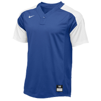 Nike Team Vapor 1 Button Laser Jersey - Boys' Grade School - Blue / White