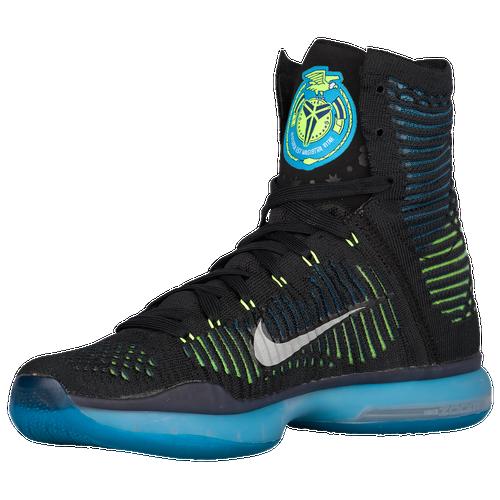 396d8639851 Nike Kobe X Elite Mens Basketball Shoes Kobe Bryant Black White Blue Lagoon  Volt hot sale