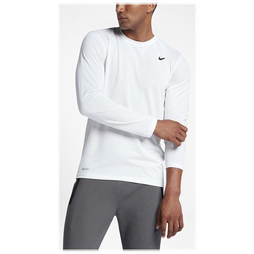 Nike legend 2 0 long sleeve t shirt men 39 s training for Long sleeved white t shirts