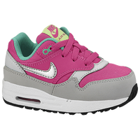 Nike Air Max 1 - Girls' Toddler - Pink / Grey