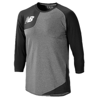 New Balance Asym Right Baseball Shirt - Men's - Black / Grey