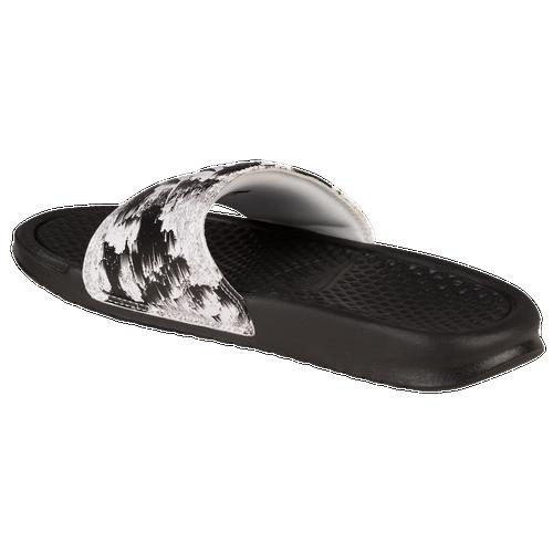 Luxury Nike Womens Benassi JDI Slide Sandal   Black / White   Footasylum