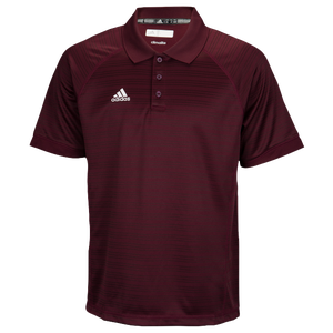 adidas Climalite Team Select Polo - Men's - Maroon/White