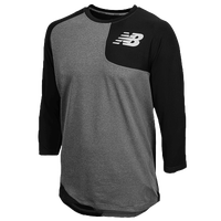 New Balance Asym Left Baseball Shirt - Men's - Black / Grey