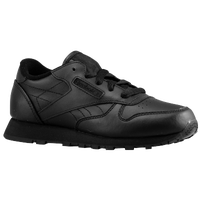 Reebok Classic Leather - Boys' Toddler - All Black / Black