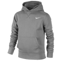 Nike Swoosh Pull Over Hoodie - Boys' Grade School - Grey / Grey