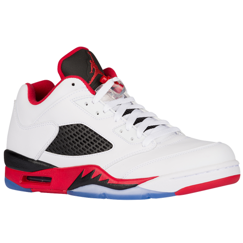 air jordan classic shoes. Jordan Retro 5 Low - Men\\u0026#39;s - White / Red