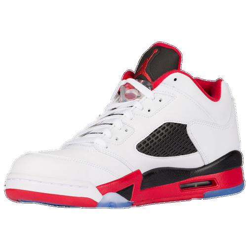 air jordan classic shoes. Jordan Retro 5 Low - Men\\u0026#39;s - White / Red