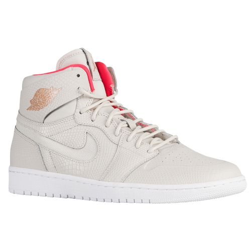 Nike Mens Jordan AJ 1 Retro High Nouveau Basketball Shoes (Light Bone or Black)