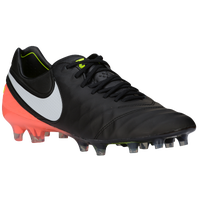 Nike Tiempo Legend VI FG - Men's - Black / Orange