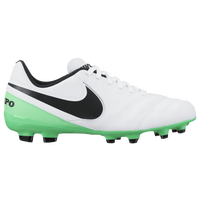 Nike Tiempo Legend VI FG - Boys' Grade School - White / Black