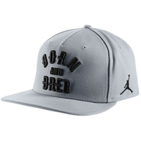 Jordan Born & Bred Snapback Cap - Adult - Grey / Black