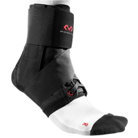 McDavid 195 Ultralite Ankle Brace W/Straps - All Black / Black