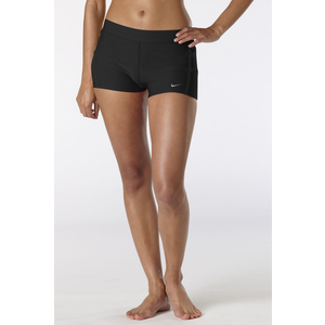 "Nike Dri-Fit 2"" Tempo Boy Shorts - Women's - Black/Black/Matte Silver"