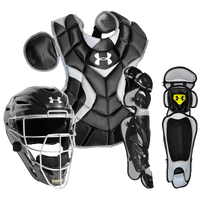 Under Armour Pro Catcher's Kit - Boys' Grade School - All Black / Black