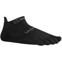 Injinji Lightweight No Show Toe Socks - Black / Grey