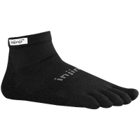 Injinji Original Weight Mini-Crew Toe Socks - Black / Grey