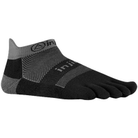 Injinji Midweight No-Show Toe Socks - Black / Grey