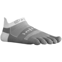 Injinji Midweight No Show Toe Socks - Grey / White