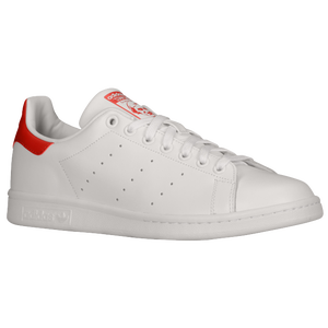 adidas Originals Stan Smith - Men's - Running White/Running White/Collegiate Red