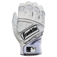 Franklin Powerstrap Batting Gloves - Men's - Off-White / White