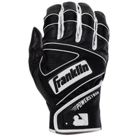 Franklin Powerstrap Batting Gloves - Men's - Black / White