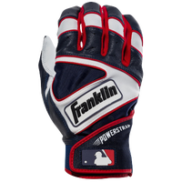 Franklin Powerstrap Batting Gloves - Men's - Navy / White