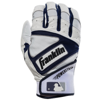 Franklin Powerstrap Batting Gloves - Men's - Off-White / Navy
