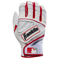 Franklin Powerstrap Batting Gloves - Men's - White / Red