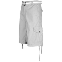 Southpole Belted Ripstop Cargo Shorts - Men's - Grey / Grey
