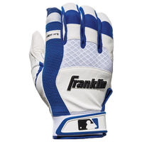 Franklin X-Vent Pro Shok Batting Gloves - Men's - White / Blue