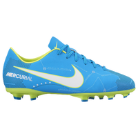 Nike Mercurial Victory XI FG - Boys' Grade School - Light Blue / White