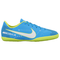 Nike MercurialX Victory XI IC - Boys' Grade School - Light Blue / White