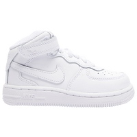 Nike Air Force 1 Mid - Boys' Toddler - All White / White